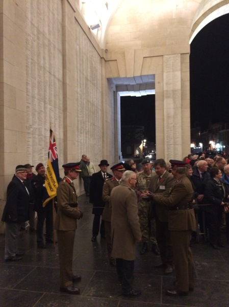 The Last Post Ceremony at Menin Gate. In recognition of all the soldiers who died for our freedom in WW1.